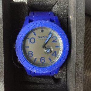 Blue Nixon Simplify Rubber Watch